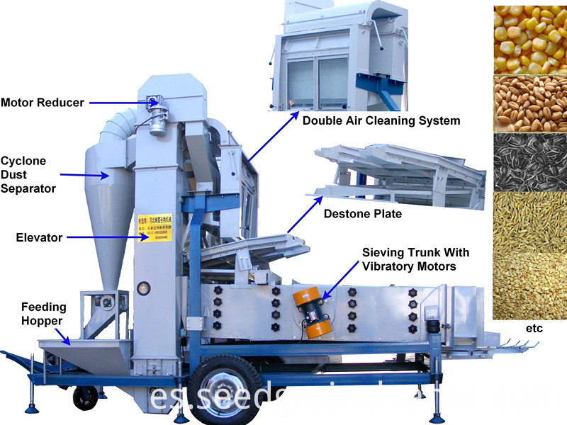 7.5F sesame cleaning machine