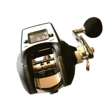 DRC002 High Quality Matte Black digital Baitcasting fishing reel for saltwater