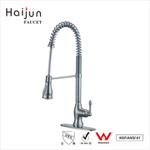 Haijun 2017 Brand Contemporary 0.1~1.6MPa Single Handle Pull Down Kitchen Faucets