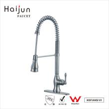 Haijun 2017 Brand Contemporary 0.1 ~ 1.6MPa Single Handle Pull Down Kitchen Faucets