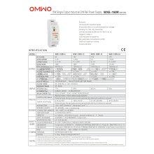 Omwo Wxe-15dr-5 Einzelausgang DIN-Schiene Schaltnetzteil