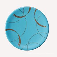 Melamine Sushi Plate with Colorful Decoration/100% Melamine Tableware (QQA006B)