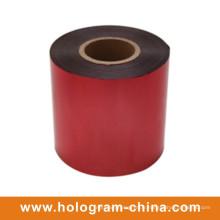 Feuille rouge gaufrée inviolable en aluminium