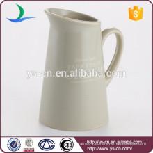 Atacado grande tamanho vidrado jarro de cerâmica com decalques para casa