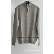 100% lana jersey jersey de punto para hombres (en stock)