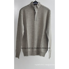 100%Wool Knit Pullover Sweater for Men (in stock)