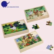 Custom Educational Kids Wooden Jungle Animal Puzzle