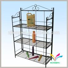 La fábrica modificó el estante de exhibición del metal del alambre del cargo del supermercado