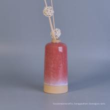Decorative Transmutation Glaze Ceramic Diffuser Bottles with Reed