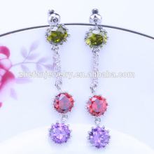 2018 china fancy glass bead earring with high polished sample market earrings