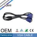 SIPU alta calidad db15 macho a macho vga cable 3 + 6 para tv al por mayor vga Monitor cable marca mejor cable vga precio hecho en China