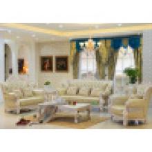 Sofá da sala de visitas com quadro de madeira do sofá (518B)