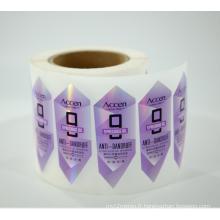 Impression d'autocollants de paillettes de film holographique personnalisé