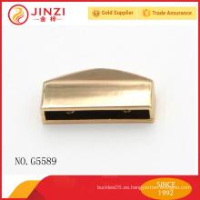 Bolso de cuero de aleación de zinc de oro luz de bolsos de metal adornos