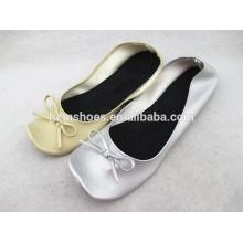 Portátil quadrado toe senhoras bailarina sapatos liso macio ballet sapatos meninas