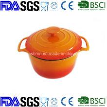 Dia: 20 3qt Porcelain Cast Iron Cocotte Manufacturer From China