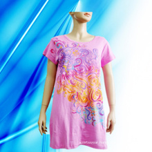100% Cotton Lady′s Screen Print Nightdress