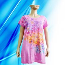 Camisola de impressão de tela 100% algodão Lady