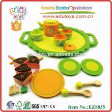 Ensemble de thé en bois, jouet pour enfants