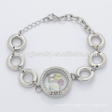 New design stainless steel magnetic silver big bead chain bracelet for jewelry making