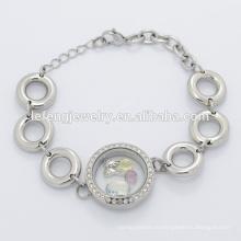 Новая конструкция из нержавеющей стали магнитный серебряный большой бусины цепь браслет для изготовления ювелирных изделий