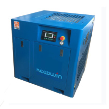 Air Screw Compressor Portable wheels tank Integrated Twin Rotary Refrigerated Air Dryer Screw Compressor