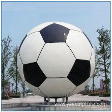 Hot Sale Modern Decorative Large Stainless Steel Football Sculpture