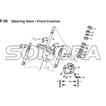 F-06 Steering Stem Frente Almofada JET 14 XS175T-2 Para SYM Spare Part Top Quality
