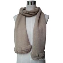 2015 nova moda cachecol de malha de lã com guarnição de babados (yky4577-3)