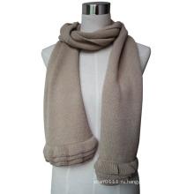 2015 новая мода шерсти вязать шарф с рюшами Трим (YKY4377-3)