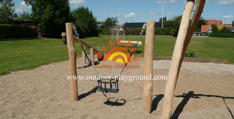 kids swing sets on playground