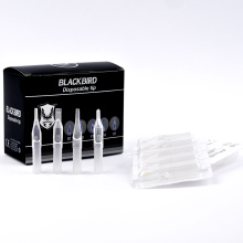 2018 newest transparent sterile disposable tattoo tube in wholesale price