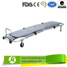 Powder Coated Steel Foldable Medical Stretcher with Body Bag