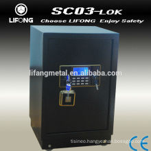 Desktop electronic security safe with backlight display