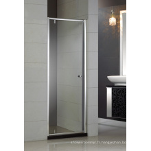 Porte de douche pivotante Simple Design en verre trempé Hb-P900