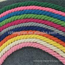 3 Strand twisted cotton rope for wholesale for house textile
