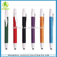 Mini eco paper barrel promotional pen with stylus