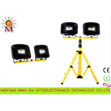 Waterproof Portable LED Flood Light with Tripod Stand 2*30W