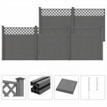 Grey DIY Privacy Outdoor Garden House WPC Balcony Fence