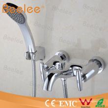 Robinet de douche à double poignée de haute qualité avec tuyau et combiné
