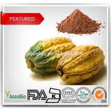 Extrait de cacao 100% naturel / 10% 20% de théobromine / polyphénols de cacao