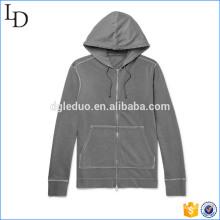 Loopback Cotton-Jersey zip hoodies custom wholesale fleece sport hoodies