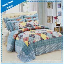 Edredón de ropa de cama con estampado de algodón de retazos de 6 piezas (juego)