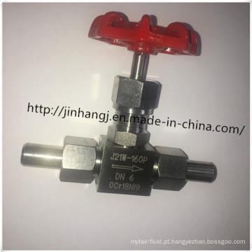 Válvula de agulha de aço inoxidável J21W