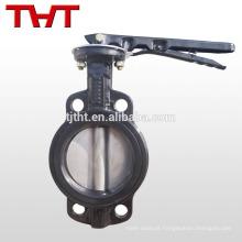 válvula de borracha pn16 de ferro fundido operada com alavanca de bolacha gg25