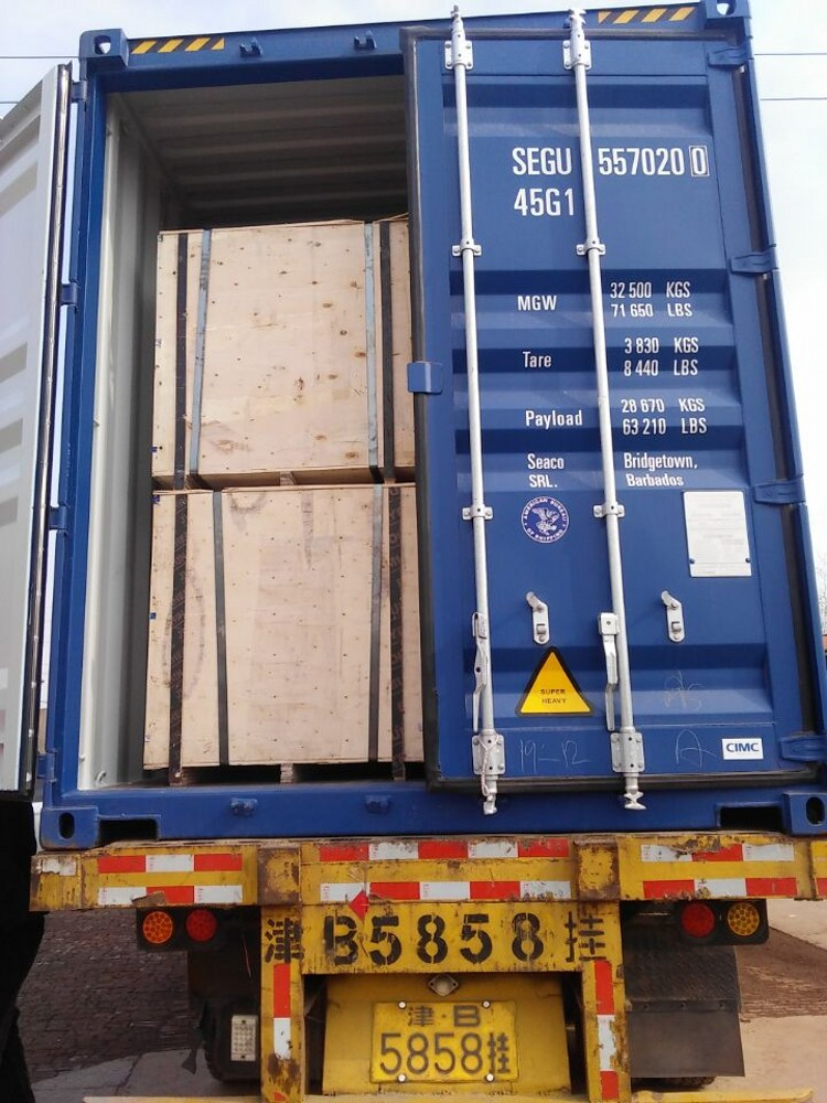 wear plate in container