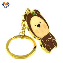 Maker Custom Gift Gold Metal Bear Llavero
