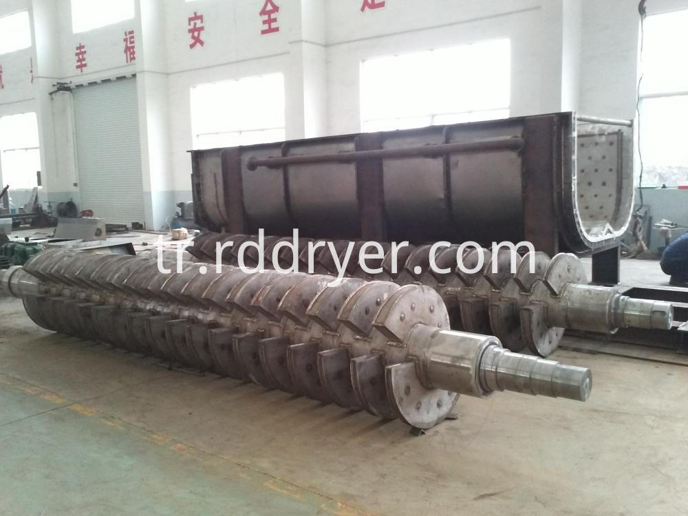 Inorganic Chemical Industry Hollow Blade Dryer