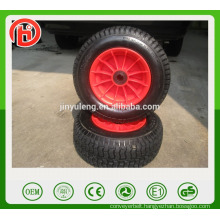 Plastic rim 16 inches 6.50-8 rubber wheel for wheelbarrow lawn mower,hay mowe,hand truck,and Handling equipment