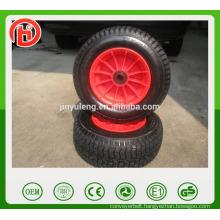 16 inch 6.50-8 beach cart wheel pneumatic rubber air wheel plastic rim